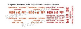 NI Confidential Telephone numbers Type 1 Red